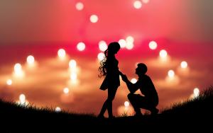 הצעת נישואין לאור נרות